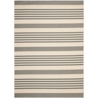 Safavieh Indoor/ Outdoor Courtyard Grey/ Bone Rug (9 x 12