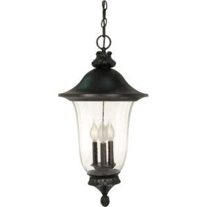 Nuvo Lighting NUV 60 982 Parisian Textured Black  Outdoor Pendants Lighting