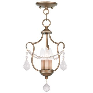 Livex Lighting 6420 48 Antique Gold Leaf Pendant Light